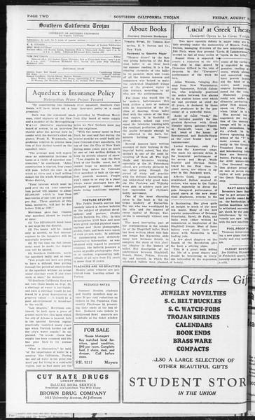 Southern California Trojan, Vol. 10, No. 16, August 14, 1931