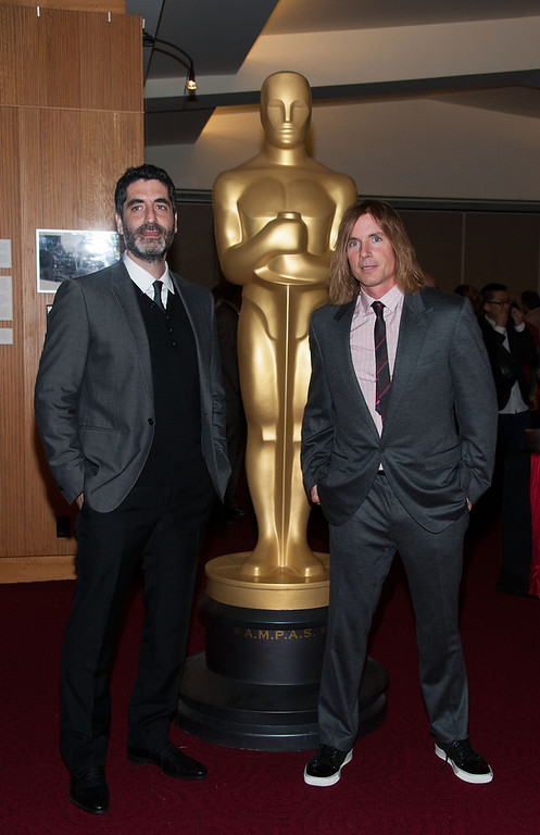 . Mino Jarjoura and Bryan Buckley attends  The Academy Of Motion Picture Arts And Sciences Presents Oscar Celebrates: Shorts  at AMPAS Samuel Goldwyn Theater on February 19, 2013 in Beverly Hills, California. (Photo by Valerie Macon/Getty Images)