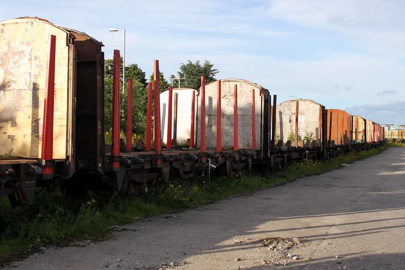 Elgin Yard stored Timber Wagons, 25/06/11