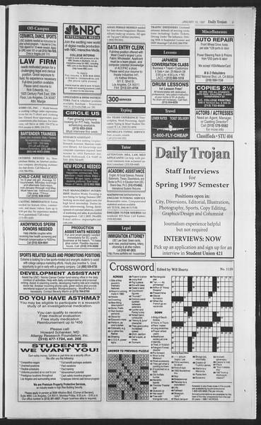 Daily Trojan, Vol. 130, No. 2, January 10, 1997