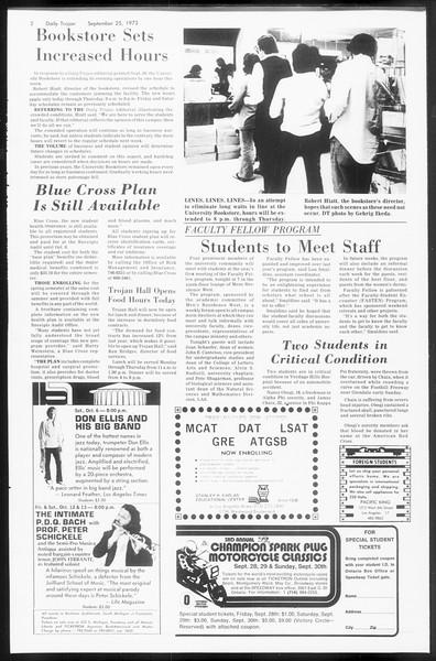 Daily Trojan, Vol. 66, No. 7, September 25, 1973