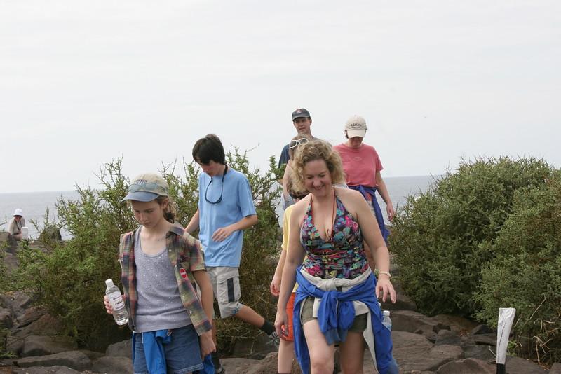 2007-02-19-0041-Galapagos with Hahns-Day 3, Espanola-Elaine-Debby-Evan-ElaineH-Curtis.JPG
