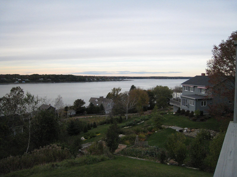 View from our balcony at the Log Cabin Island Inn - Bailey Island, Maine