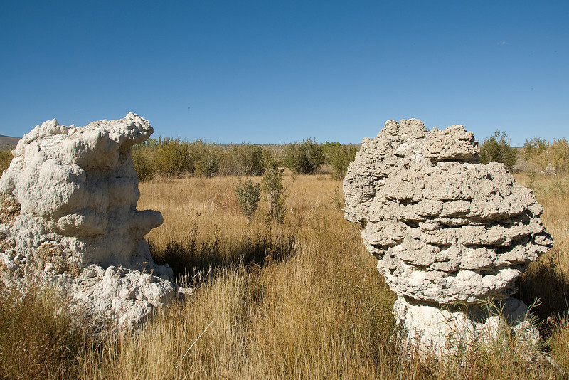 Tufa rock formation near Mono Lake in California