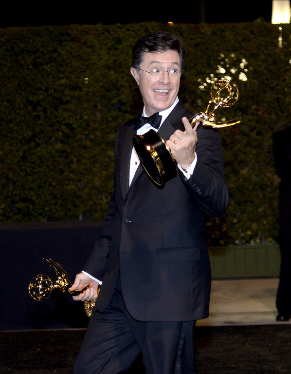 . TV Show Host Stephen Colbert attends the Governors Ball during the 65th Annual Primetime Emmy Awards at Nokia Theatre L.A. Live on September 22, 2013 in Los Angeles, California.  (Photo by Kevork Djansezian/Getty Images)