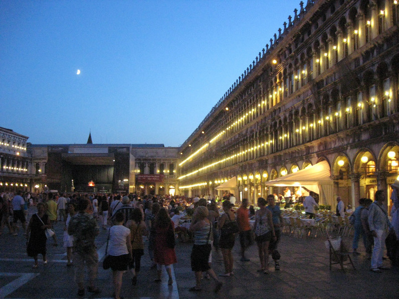 View of the Piazza San Marco (San Marco Square).