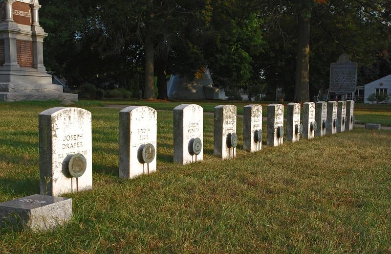 Gravestones of Militiamen