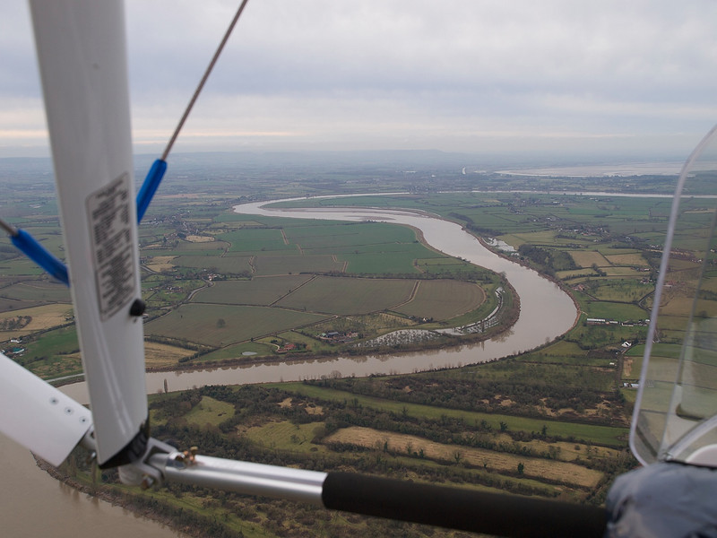 As we got airborne we trailed the river Severn. A beautiful sight as it snakes through the Cotswold surrounds. Previous flood tide spillage was very evident in the plains adjacent, moreso that I had noticed before.