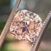 4.03ct Light Fancy Brown Antique Cushion Cut Diamond Halo Ring GIA LFB, SI1 62