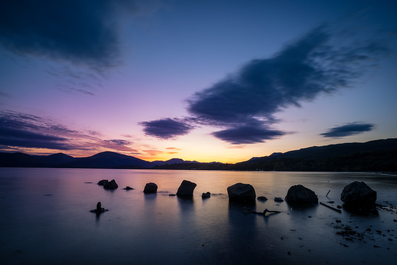 Loch Lomond Sunset in July