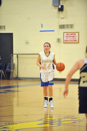 Girls JV Basketball 1-6-12 Bro. Roger