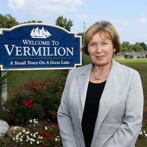 Vermilion's Mayor Eileen Bulan. Various locations in the City. August 2013
