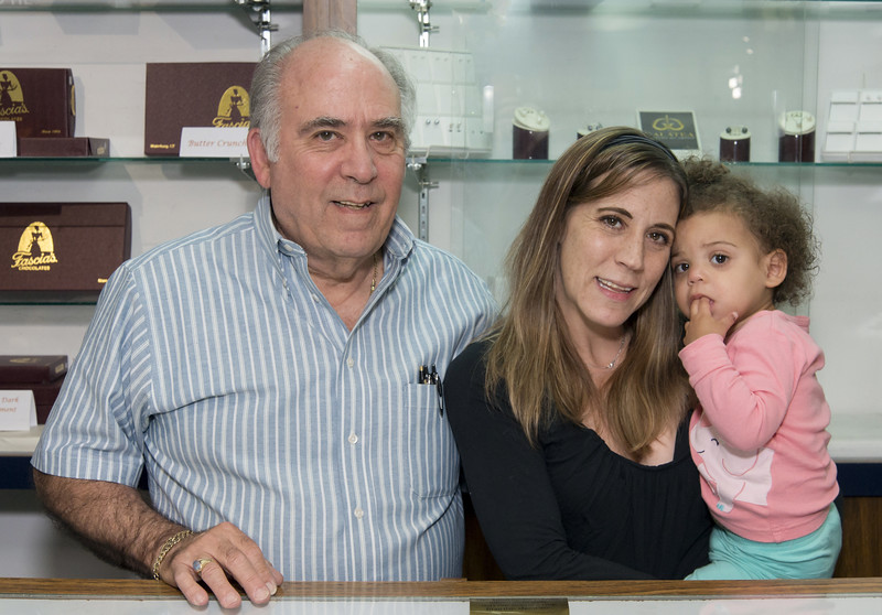 Palumbo's Jewelers Owner Fred DiBattista , Manager Dayna DiBattista and Boss Alivia DiBattista.
