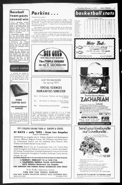 Daily Trojan, Vol. 62, No. 67, February 11, 1971