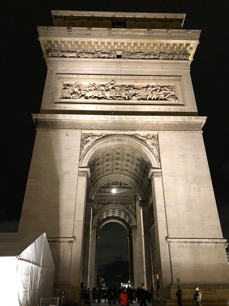 Arc de Triomphe -  in PM Mon., Nov 12, 2018 in pm, followed by dinner.