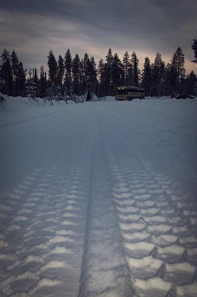Aha! Oho! Tracks In The Snow