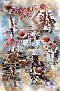 2019 2020 Yorkville Varsity Basketball Poster