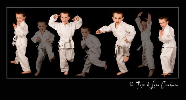 Tyler and Matthew Karate