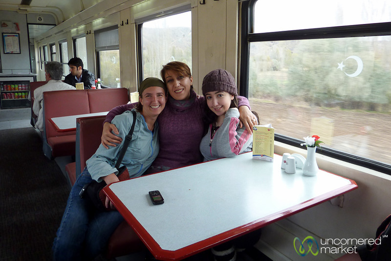 New Iranian Friends on Train to Turkey