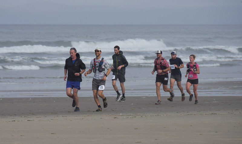 Running with Eric, from Florence, OR.  Photo:  Dondi