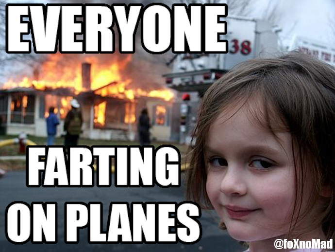 farting on planes meme