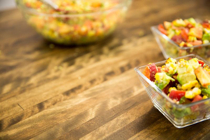Summeripe Grilled Corn & Peach Salad