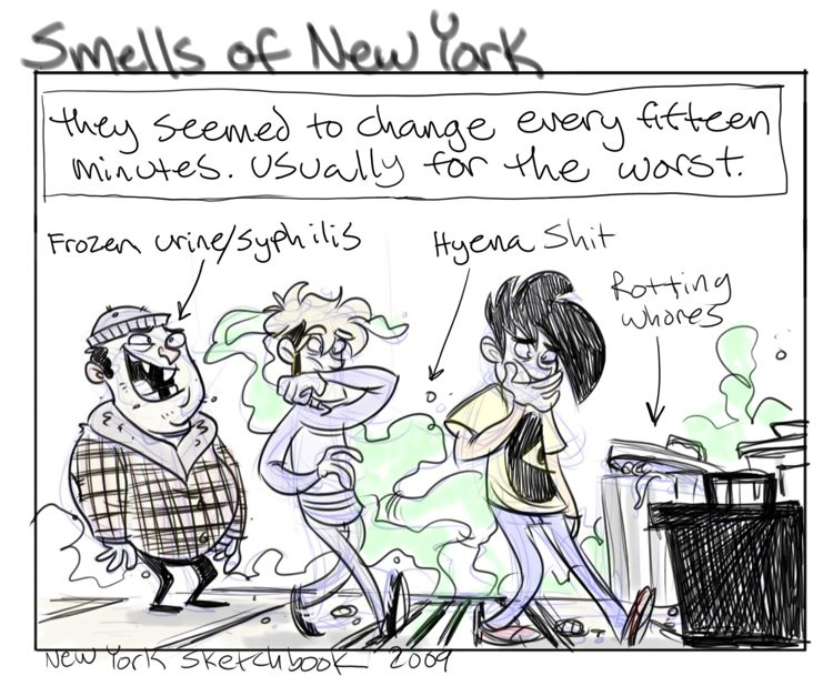 New York Sketchbook: A Nose Journey