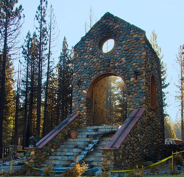 Burned Church after Lake Tahoe Fire