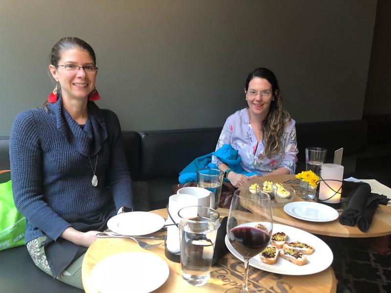 SWE-SD social at WE18:  Sara Wheeland & Charlotte Fitzgerald
