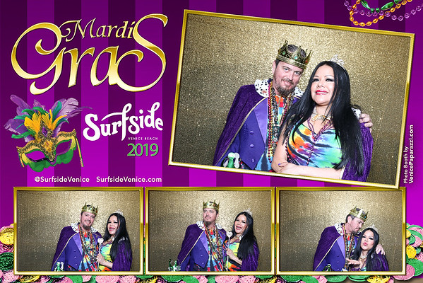 2019 Venice Beach Mardi Gras Photo Booth photos