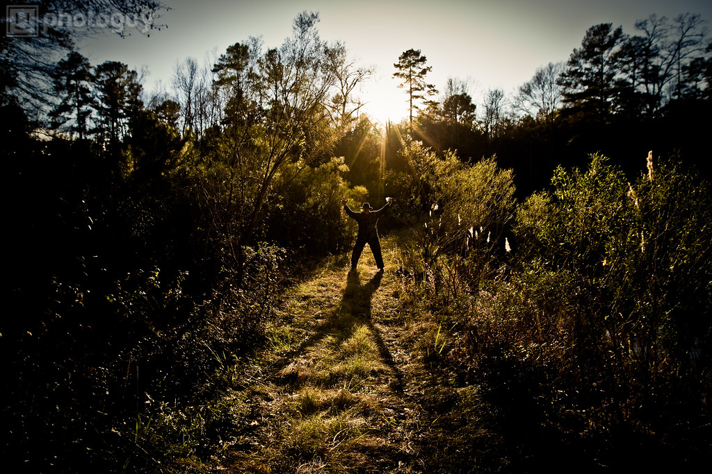 Man creates a shadow in Jackson Mississippi
