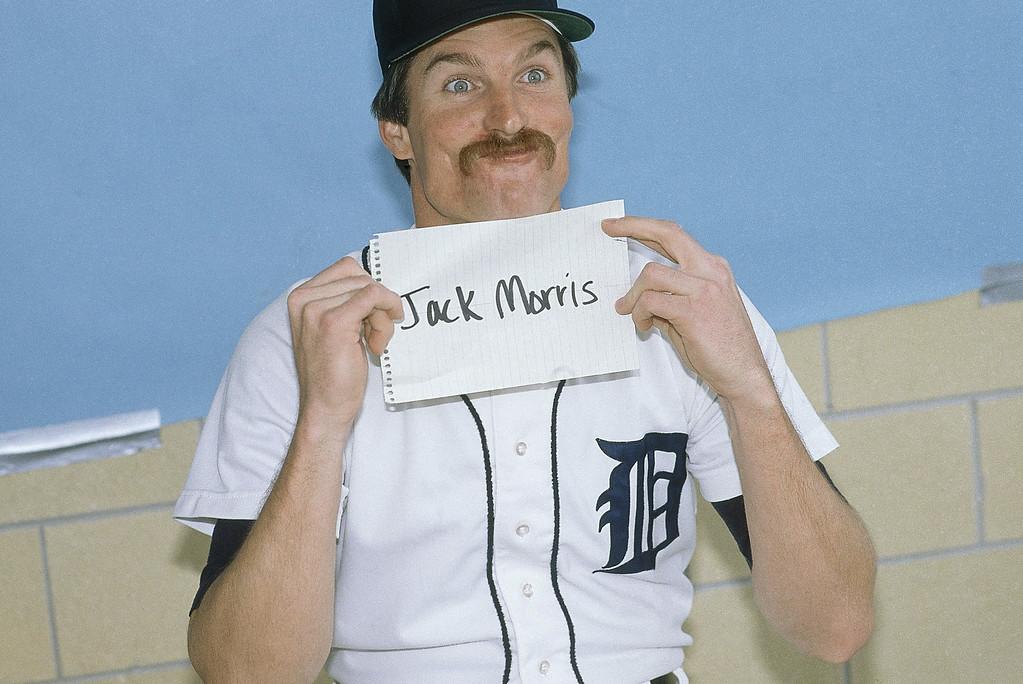 . Detroit Tigers Jack Morris  1984. (AP Photo)