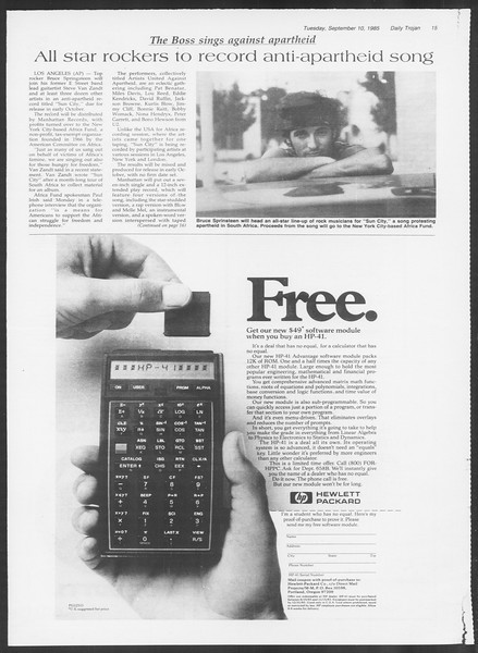 Daily Trojan, Vol. 100, No. 6, September 10, 1985