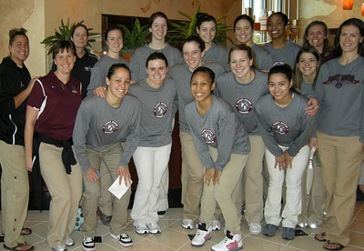 University of Puget Sound Women's Basketball Team after Winning Round One of Nationals - March 6, 2010