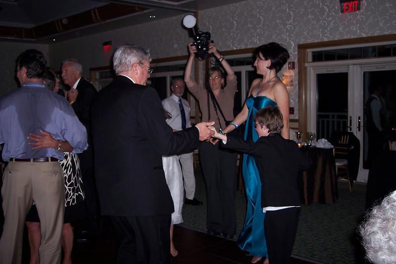 On the dance floor...