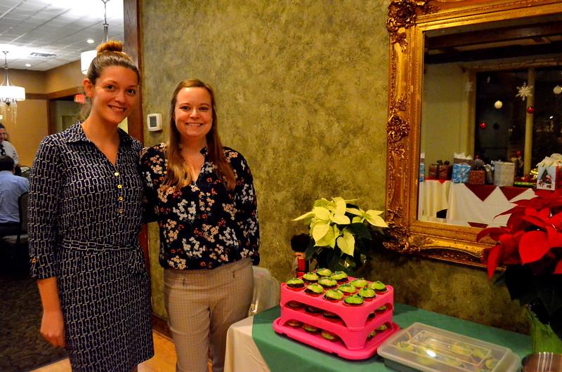 The cupcake bakers, Sarah and Pamela