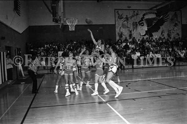 19860124 Fairfield vs Chester; Cheerleaders