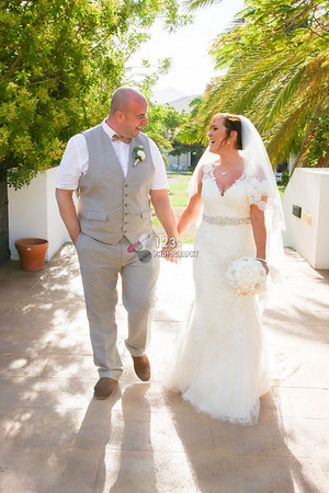 Suzanne and Joe's wedding photography Lanzarote, Costa Calero Hotel
