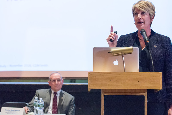 03/25/19 Wesley Bunnell | Staff CT Republicans held a conference on Monday evening at Bristol Central High School to discuss the highway toll proposals as well as alternative options. State Rep. Laura Devlin discusses the state's proposals.