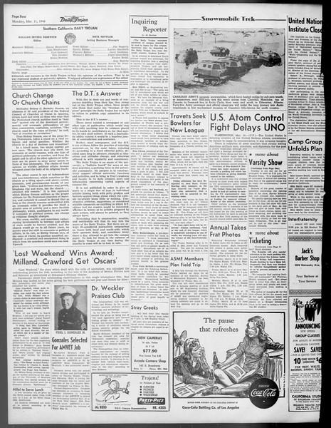 Daily Trojan, Vol. 37, No. 81, March 11, 1946
