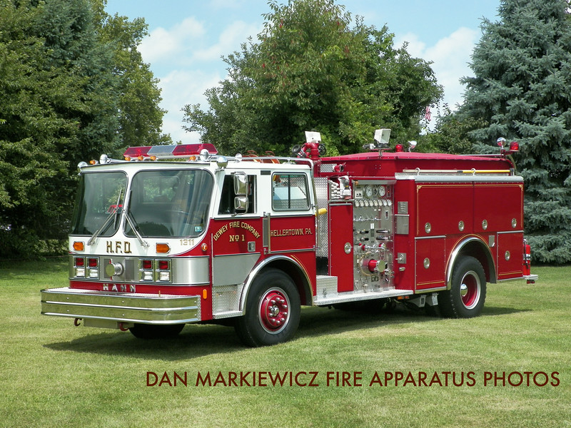 DEWEY FIRE CO. HELLERTOWN 1989 HAHN PUMPER PRIVATELY OWNED BY RON SMITH