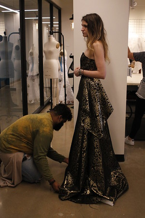 dress fittings candid