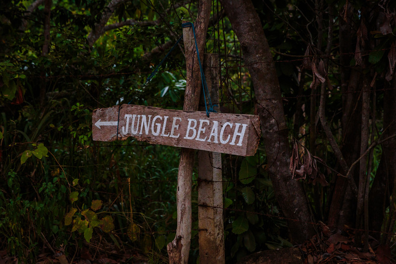 Jungle Beach Sign