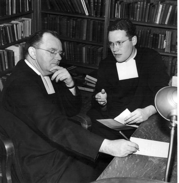 Br. Bertram and Br. Gene (Chuck) Shaw 1953.jpg