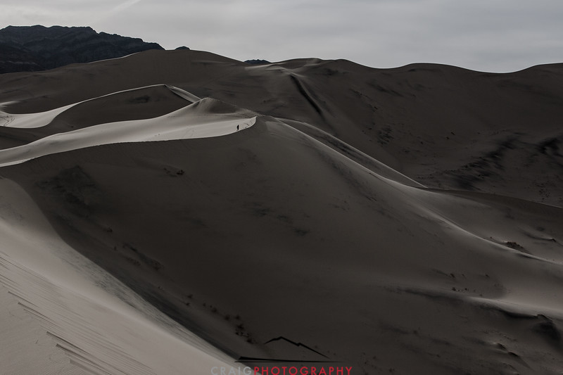 Eureka Dunes Hiker Death Valley National Park CA 3
