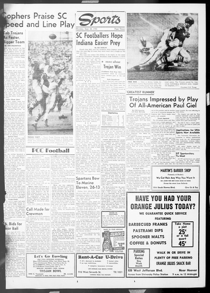 Daily Trojan, Vol. 45, No. 6, September 28, 1953