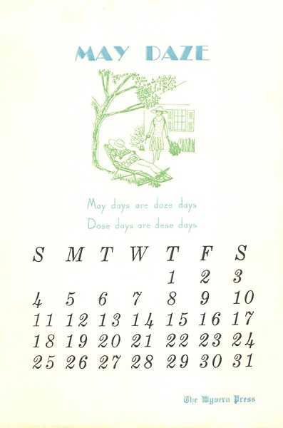 May, 1980, Wyvern Press