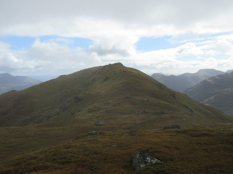 Looking along the ridge to the summit of Ben Vorlich.