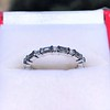 1.10ctw Round and Baguette Diamond Eternity Band 0