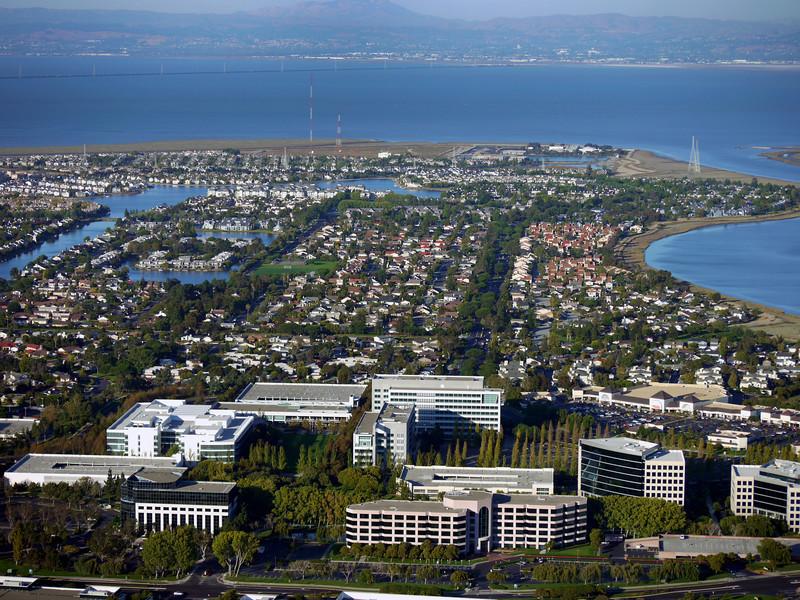 San Mateo foreground, Foster City middleground.